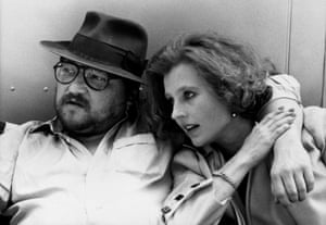Fassbinder and Schygulla on the set of TV drama Berlin Alexanderplatz in 1979.