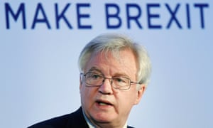 David Davis delivers a speech at the Prosperity UK conference in London.