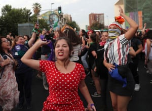 Santiago, ChileDemonstrators take part in a protest marking the national day against femicide