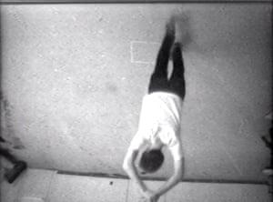 Head over heels ... Bruce Nauman's Pacing Upside Down, 1969.