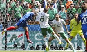 Antoine Griezmann scores for France against Ireland