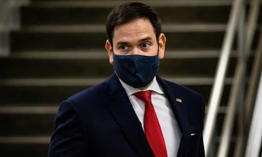 Senator Marco Rubio of Florida, is among those named in Carl Bernstein's list who have expressed disdain for Trump