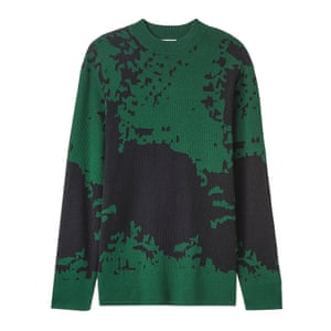 green and black patterned jumper Weekday