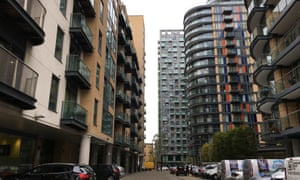 Super high-density dwellings between Millharbour and Inner Millwall Dock at Canary Wharf in east London.