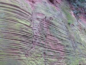 Lines on sandstoneLeft by ancient seas. Helen Evans.