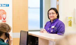 Nadine Opiniano, a matron in elderly care at Royal Stoke University hospital, Stoke-On-Trent .