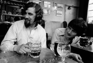 Connolly with Gerry Rafferty, his partner in the folk duo the Humblebums, in 1967.