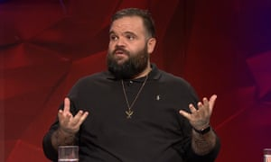 Briggs told Q&A on Monday night he had not stood for the national anthem since he was 13 or 14.