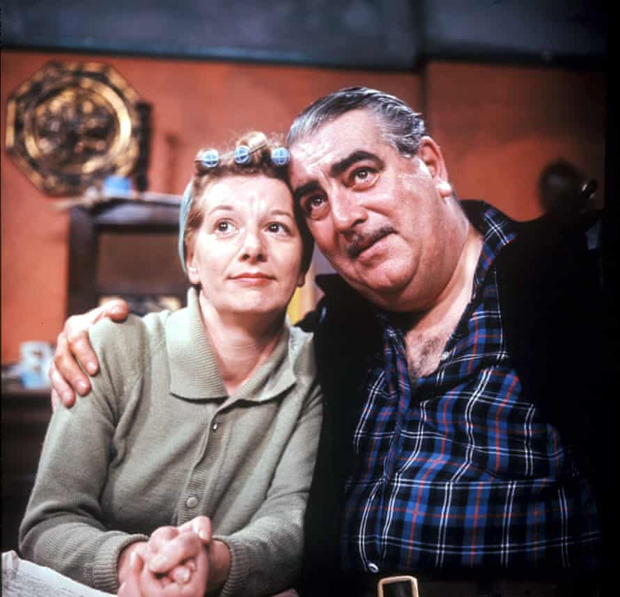 ITV ARCHIVENo Merchandising. Editorial Use Only Minimum use fee £50 Mandatory Credit: Photo by ITV/REX/Shutterstock (669448dp) 'Coronation Street' TV - Coronation Street: 1960's Hilda and Stan Ogden [Jean Alexander and Bernard Youens]. ITV ARCHIVE