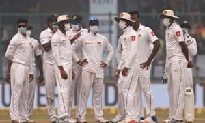 Sri Lanka cricketers forced to wear anti-pollution masks in Delhi