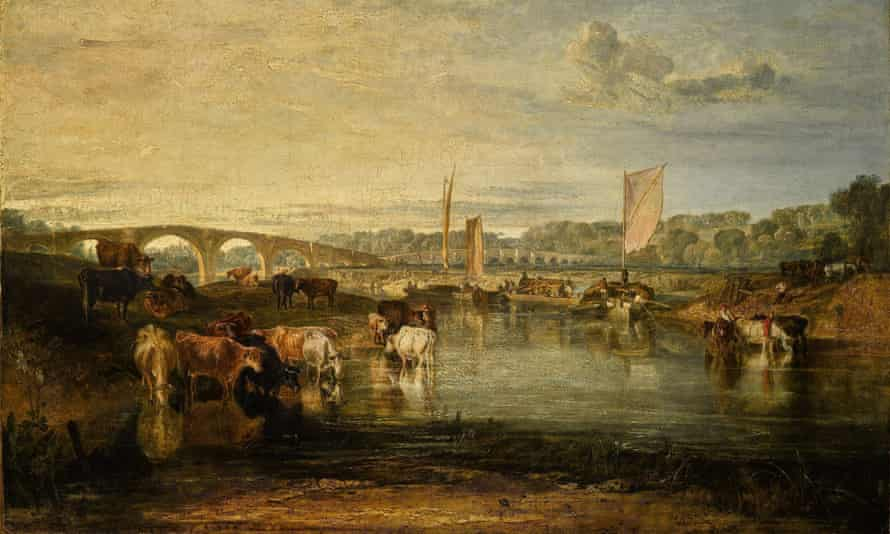 Walton Bridges painting by Turner