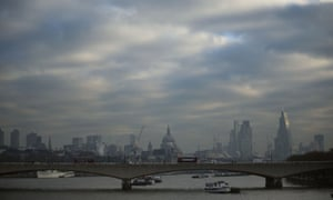 High pollution levels were recorded in London in late January.