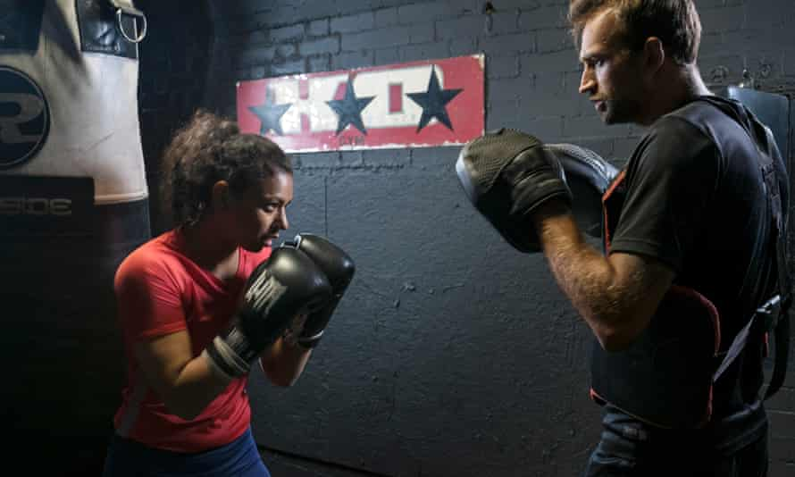 Ruqsana Begum sparring at the gym in London's Bethnal Green.