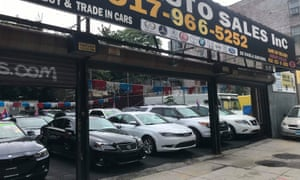 A used car dealership in downtown Brooklyn, New York, September 29, 2020. More and more New Yorkers are choosing to buy a car, to escape public transportation and the pandemic.