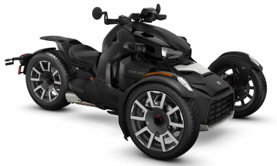 Twist and go: the latest three-wheel Ryker from Can-Am.