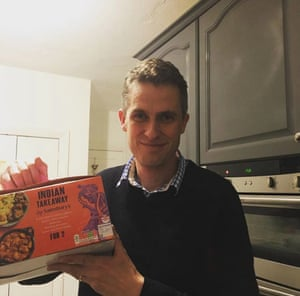 Gavin Williamson and a ready meal