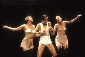 Alan Cumming, centre, in Cabaret at the Donmar Warehouse, 1993