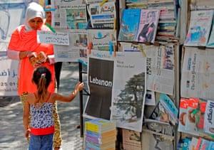 A newsstand in Beirut, Lebanon