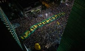 Protest Brazil.
