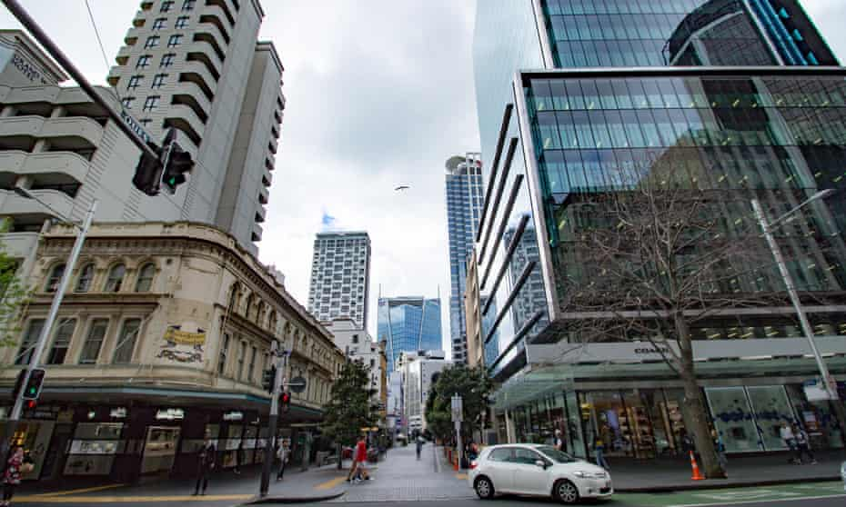 Fort street pedestrianised area. Luxury shopping along Queen Street, including the flagship store of handbag retailer Coach, in downtown Auckland, New Zealand,