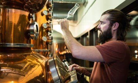 Spike Baker, the head brewer at the Wood Buffalo Brewing Company in Fort McMurray, Canada.