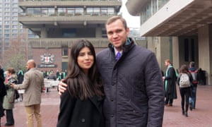 Matthew Hedges, sentenced to life in prison in the United Arab Emirates, and his wife Daniela Tejada.