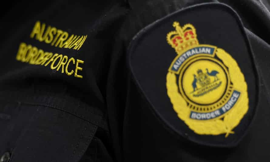 Australian Federal Police and Australian Border Force badge