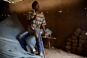 Juma Johanes is from South Sudan and left to escape the fighting
