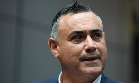 NSW National party leader John Barilaro