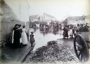Flooding in Newlyn, near Penzance