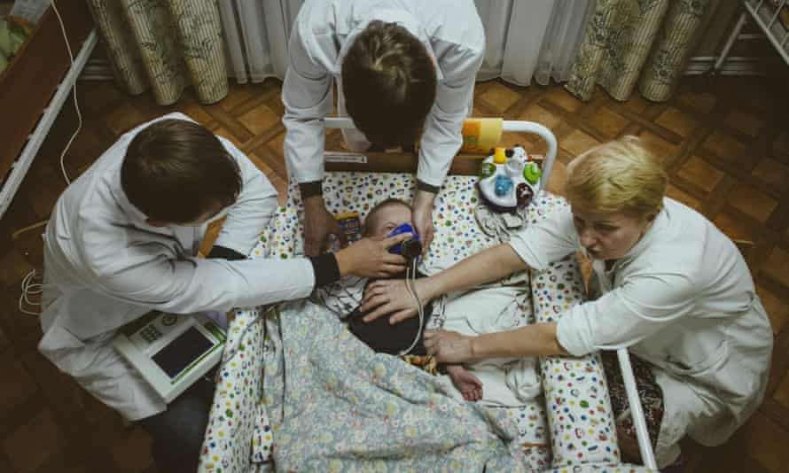 A child in one of the Minsk orphanages.