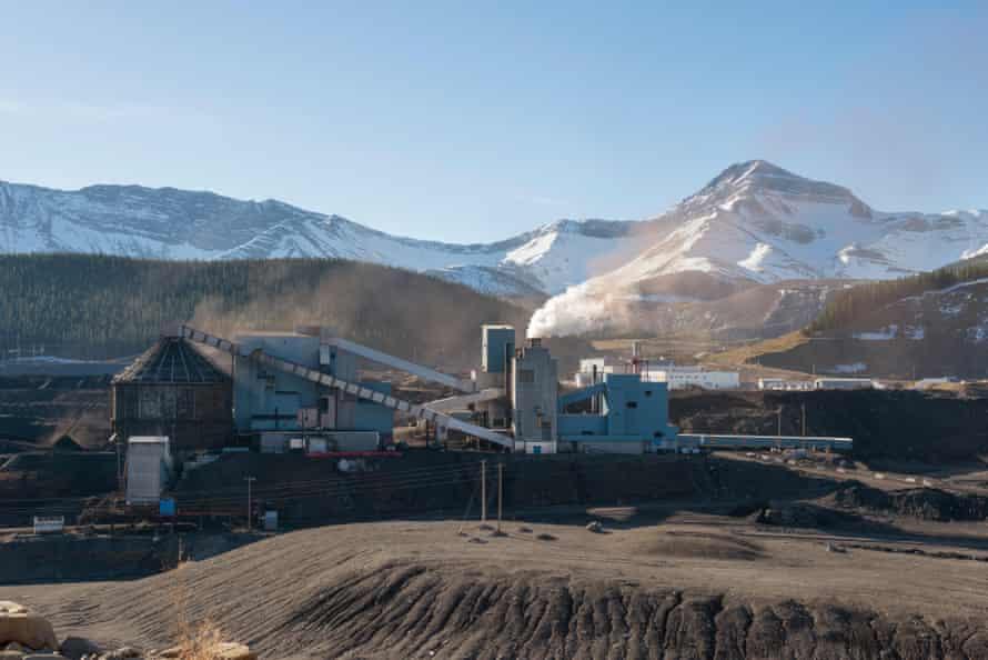 Luscar coalmine at Cadomin, Alberta.