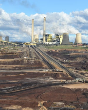 The Loy Yang B power station in the Latrobe valley.