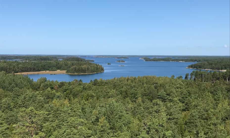 View over the Turku archipelago.