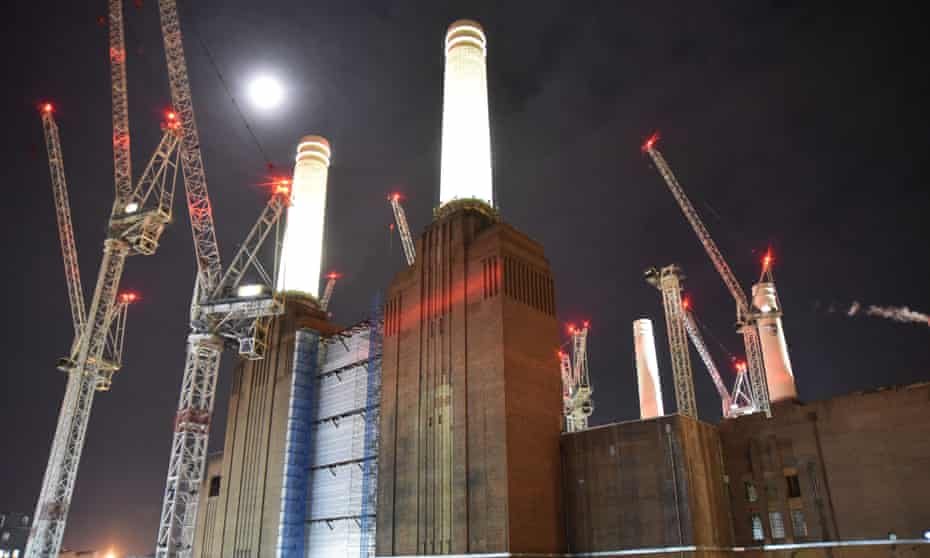 Battersea power station, a relic of fossil fuel. In neighbouring Southwark, the council is divesting its investment in fossil fuels.