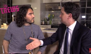 Russell Brand and Ed Miliband during that interview.