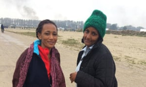 Mimi Gebreh Howit and Tigst Lakew - Eritreans living in the Calais camp.
