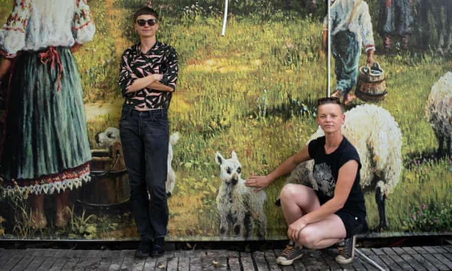 Nadia Brodskaya and Svetlana Sugako on tour in Kyiv.