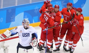 The Olympic Athletes from Russia had few problems against Team USA