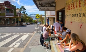 """""""A relaxed and confidently lovely city, where locals are just as likely as tourists to embrace its restaurants-with-a-view"""" ... a cafe in Sydney's inner western suburbs"""