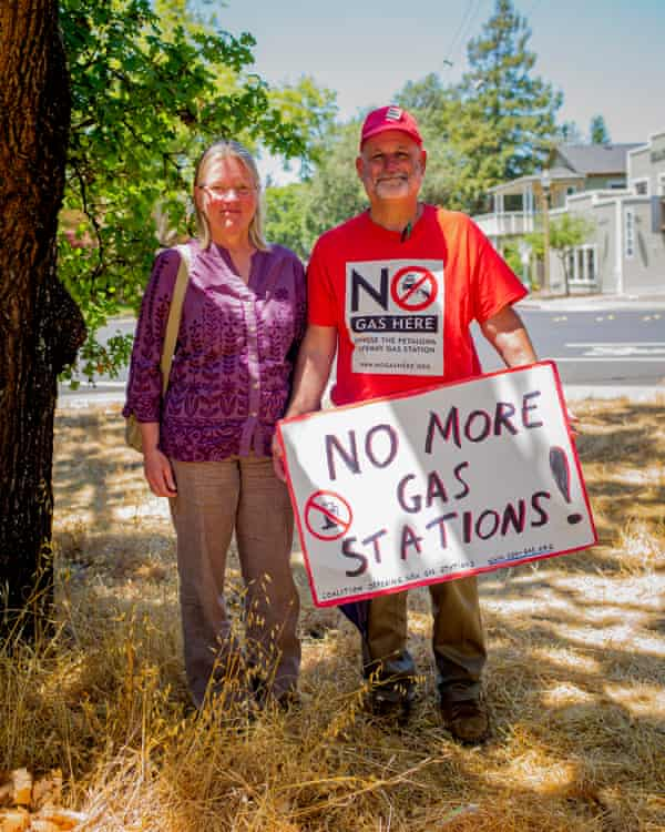Jenny Blaker and Woody Hastings, co-coordinators of the Coalition Opposing New Gas Stations.