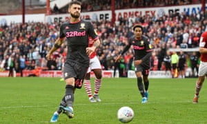 Mateusz Klich strokes home a penalty for Leeds United's second  goal in the win at Barnsley.