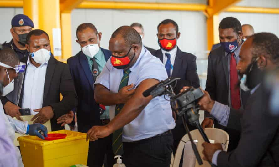 Papua New Guinea's PM James Marape was the first to receive the coronavirus vaccine in mid-March, but since then just 0.6% of the country's population have received a single dose of the vaccine.