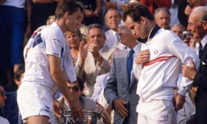 Lendl and McEnroe at the end of the epic match.