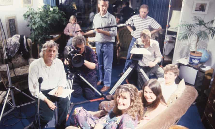 Michael Apted directing the Up series in 1984.