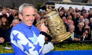 Ruby Walsh posing with the Punchestown Gold Cup after announcing his retirement.