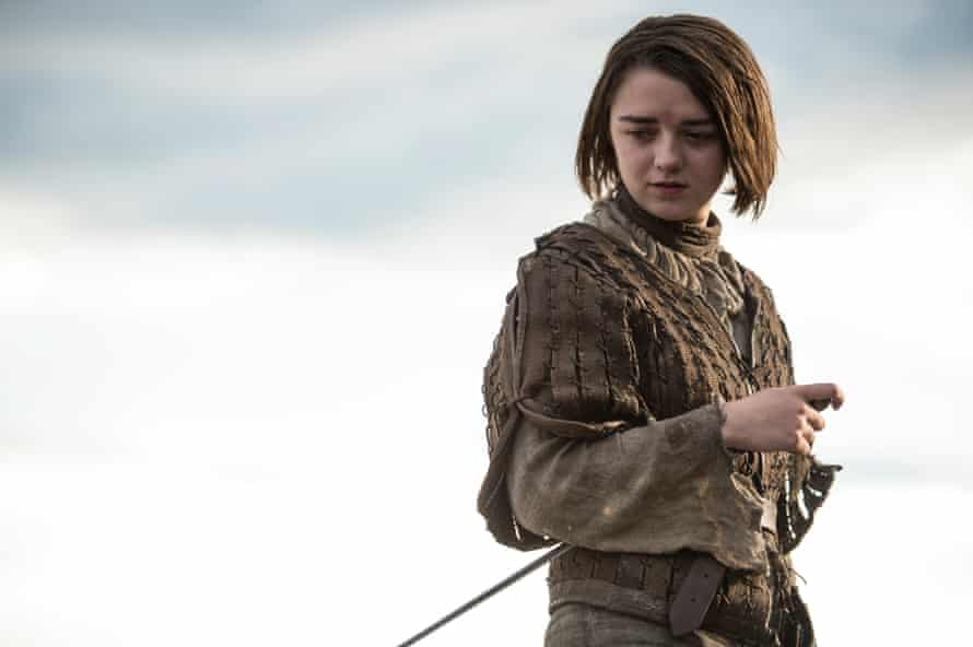 Maisie Williams as Arya Stark: a big pop art crescendo.