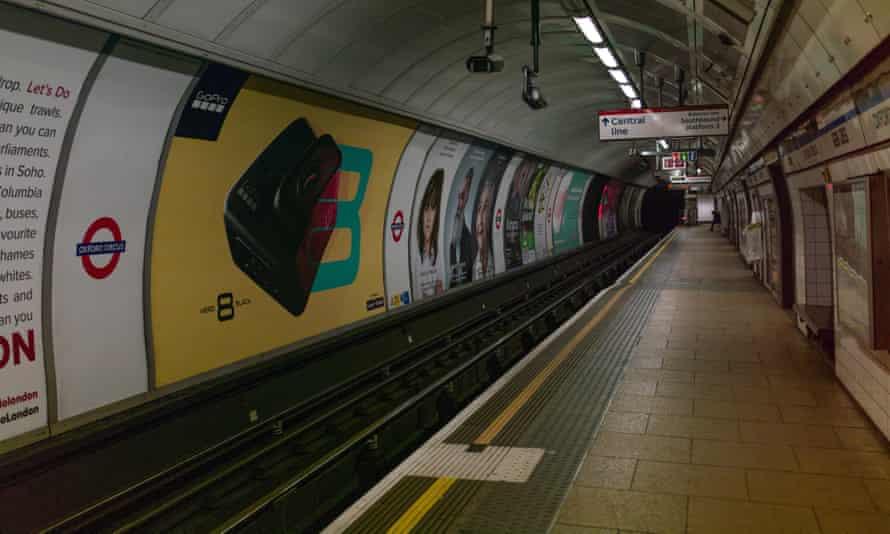 Oxford Circus tube station.