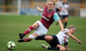 West Ham United, pictured here playing Tottenham in 2016, will be in next season's Women's Super League.