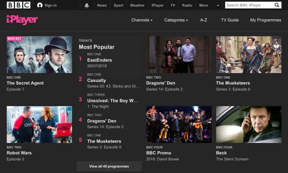 BBC iPlayer: people watching BBC shows on catchup services previously did not require a TV licence